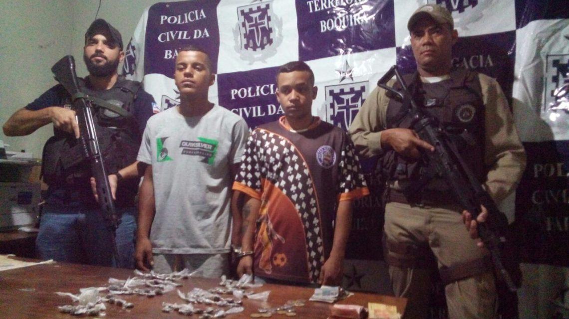 AÇÃO INTEGRADA EM BOQUIRA – Policiais Civis e Militares cumpriram mandados de BUSCA E APREENSÃO